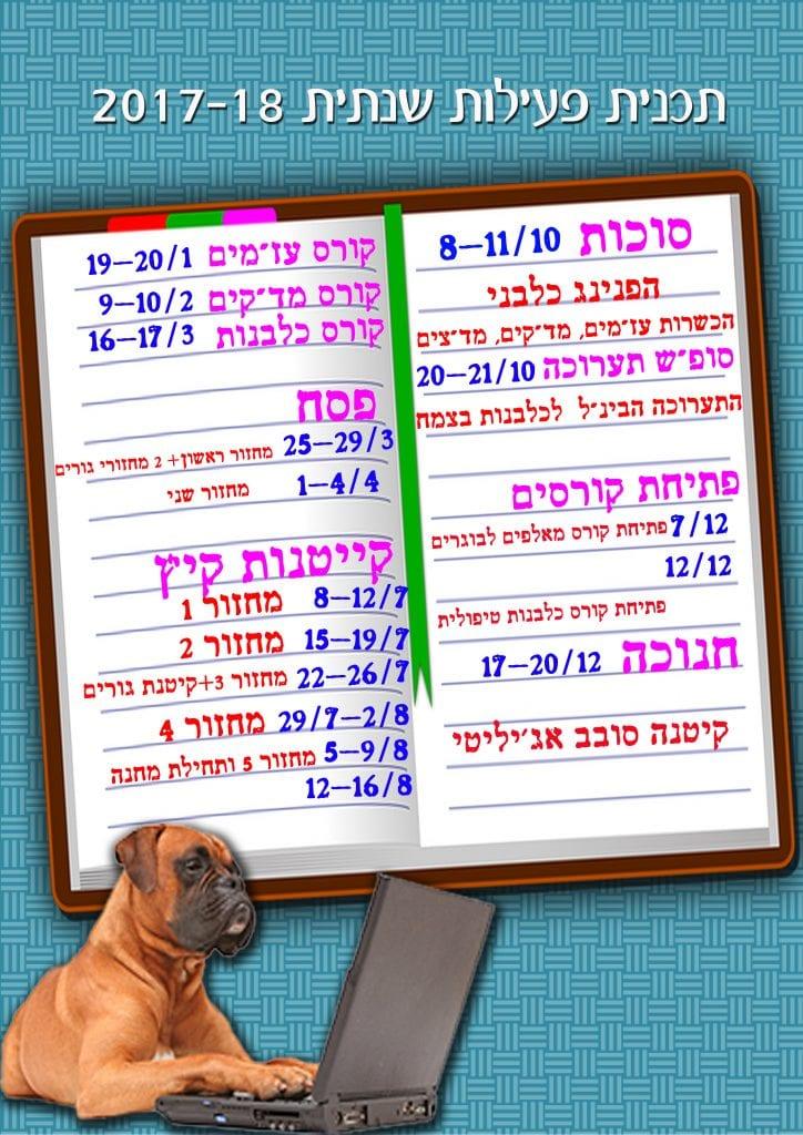 לוח פעילות שנתית